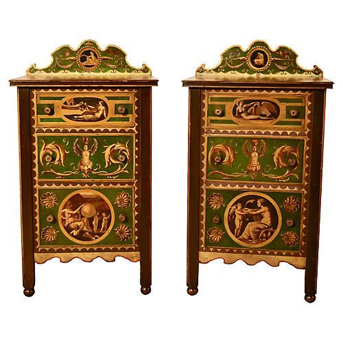 19th-C. Italian Side Tables, Pair