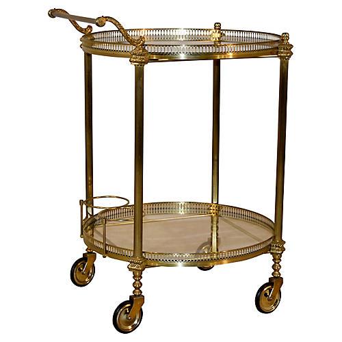 Brass Drinks Cart, circa 1920