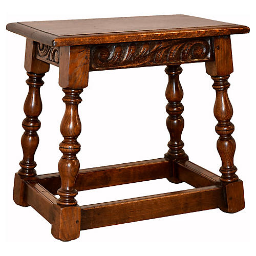 19th-C. English Joint Stool