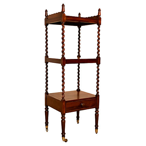 19th-C. English Rosewood Étagère