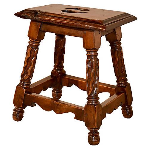 19th c french walnut stool vintageblack sheep antiques
