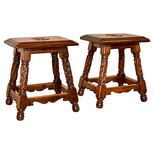 Pair of 19th-C. French Stools