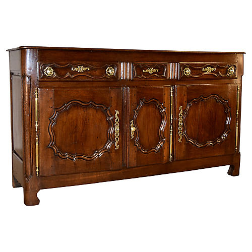 18th-C. French Oak Enfilade