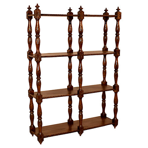 19th-C. Oak Shelf from France