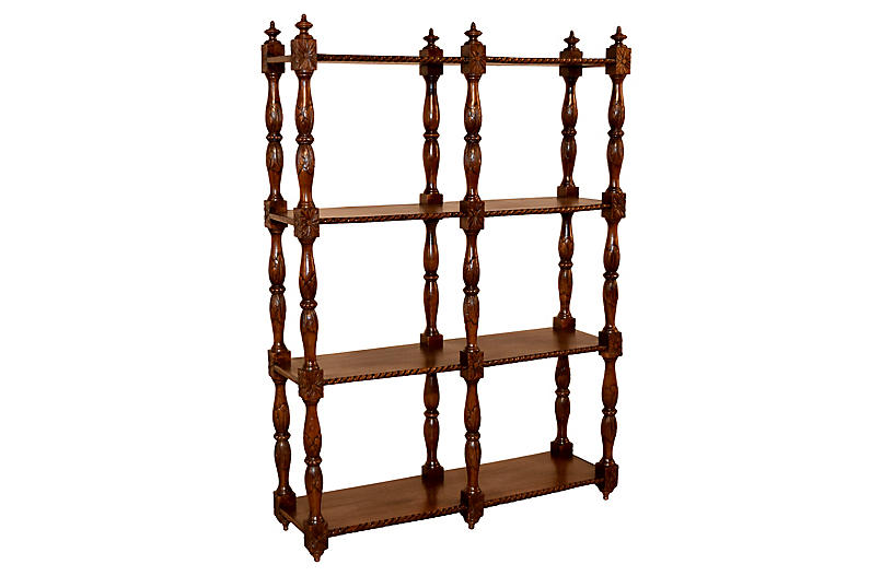 19th-C. Oak Shelf from France