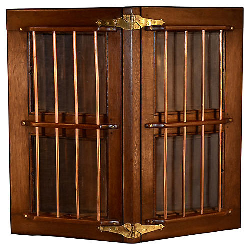 19th-C. Ship's Hatch Cabinet