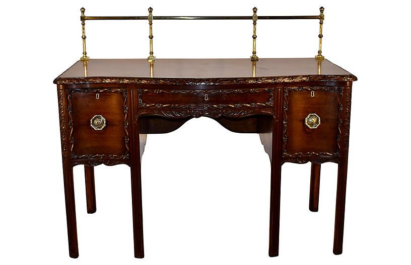 19th-C. Irish Mahogany Sideboard