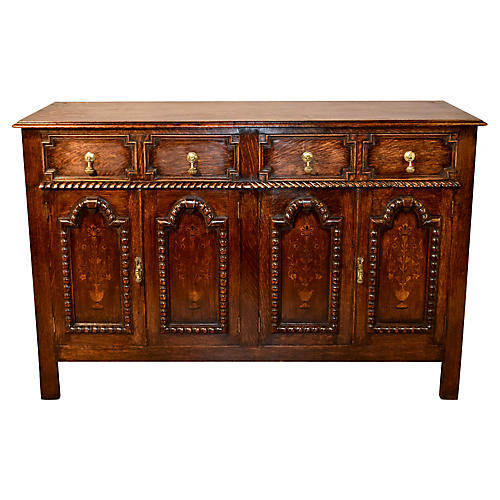 Edwardian Paneled Buffet, circa 1900