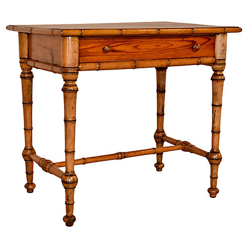 19th-C. Faux Bamboo Writing Desk