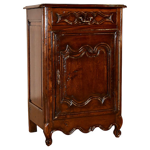 19th-C. French Oak Cabinet