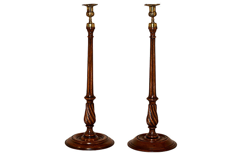 19th Century Tall Candlesticks, S/2