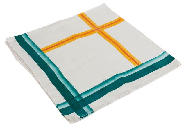 Linen Geometric Lines Tablecloth