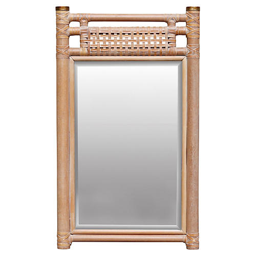 Leather Bound Wall Mirror