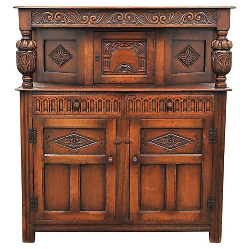 Antique English Oak Server