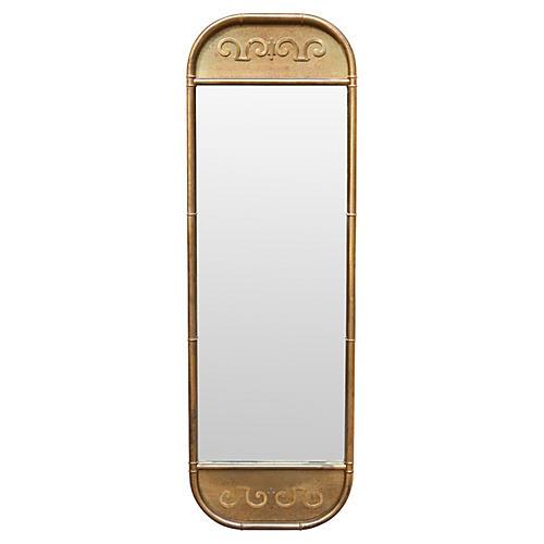 Mastercraft Faux Bamboo Brass Mirror