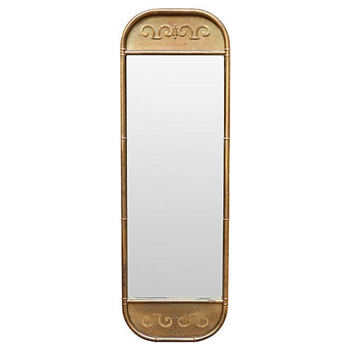 Mastercraft Faux Bamboo Brass Mirror