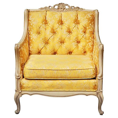 Louis XV Bergeré in Antique White & Gold