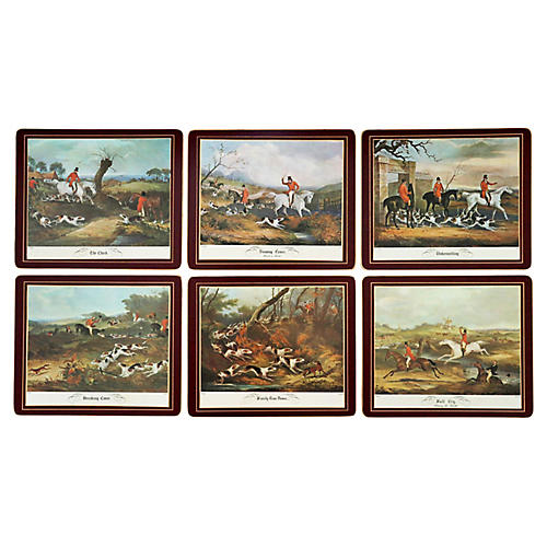 Lady Clare Hunting Place Mats, S/6