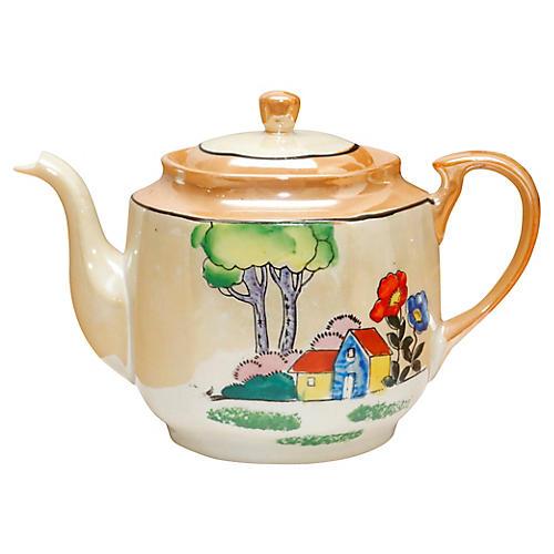 Midcentury Japanese Porcelain Teapot