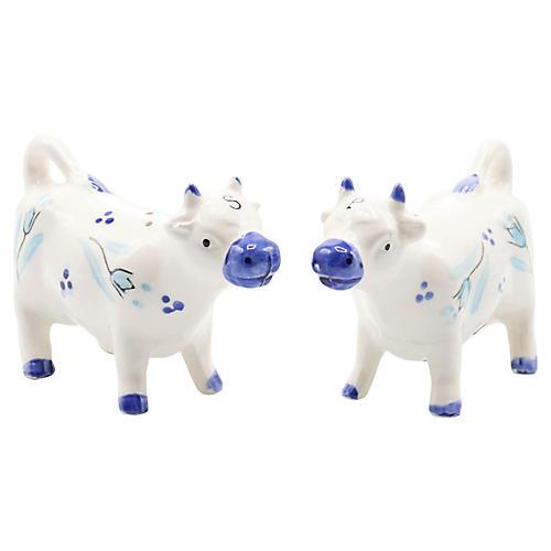 Ceramic Cow Salt & Pepper Shakers