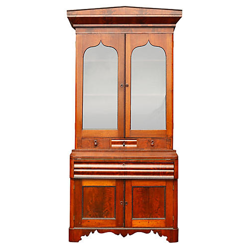 French Empire Mahogany Secretary