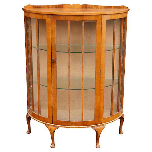 Queen Anne Style Demilune Cabinet