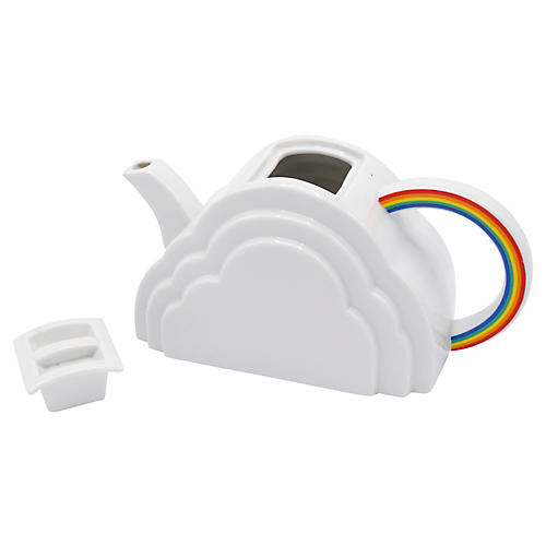 1970's Japanese Cloud & Rainbow Teapot