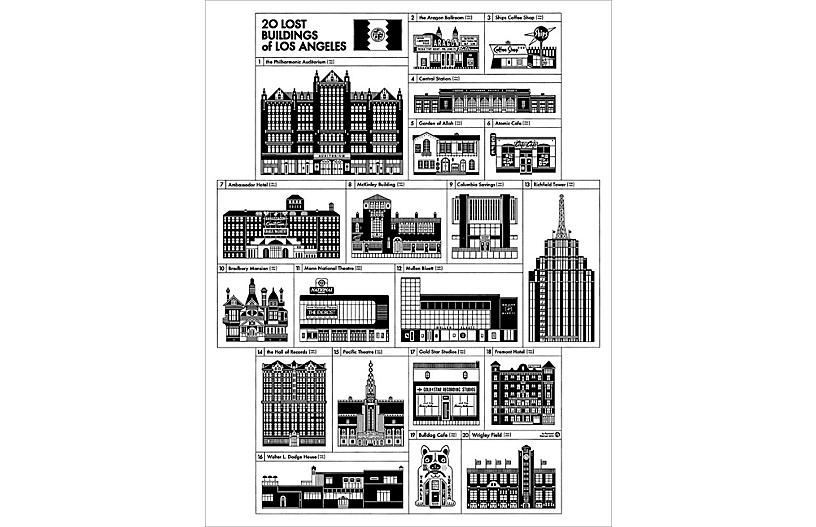 Los Angeles Demolished Buildings Poster