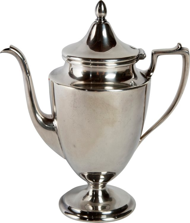 Silverplate Federal-Style Coffee Pot