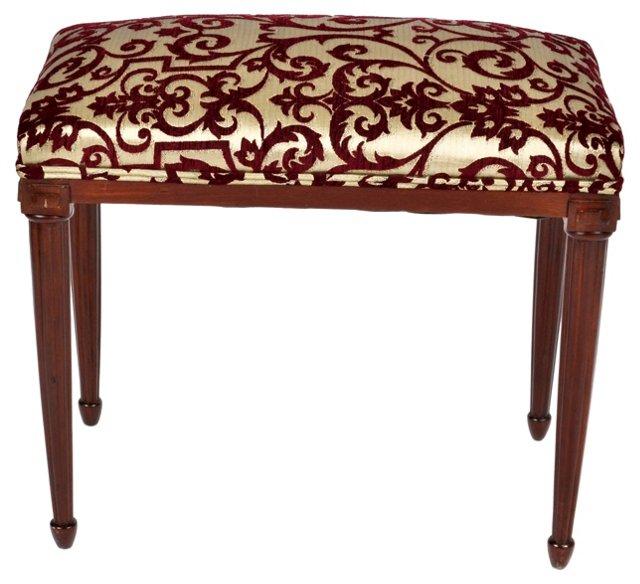 French Art Deco Mahogany Bench