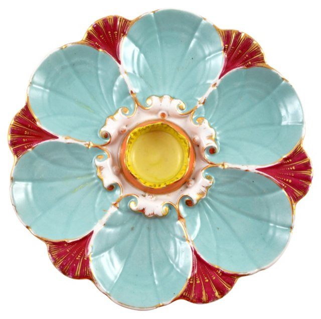 French Majolica Wall Plate
