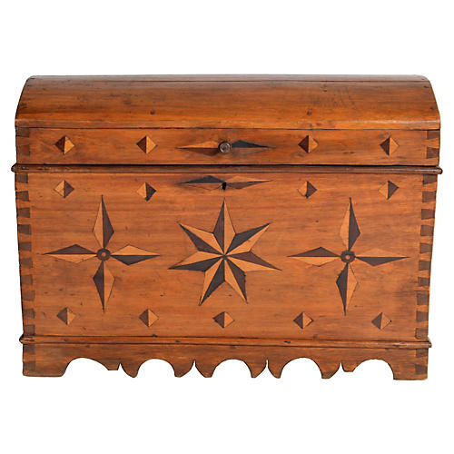 Antique  Spanish Dome Trunk
