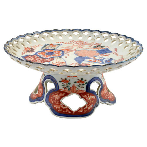 Antique Japanese Imari Footed Bowl