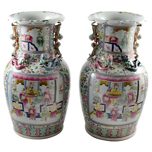 Chinese Porcelain Vases, Pair