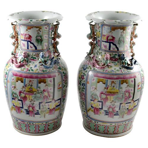 Chinese Porcelain Vases, Pair