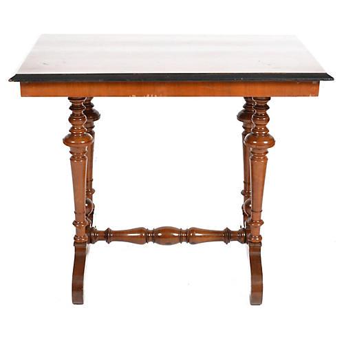 19th-C. Swedish Rectangular Walnut Table