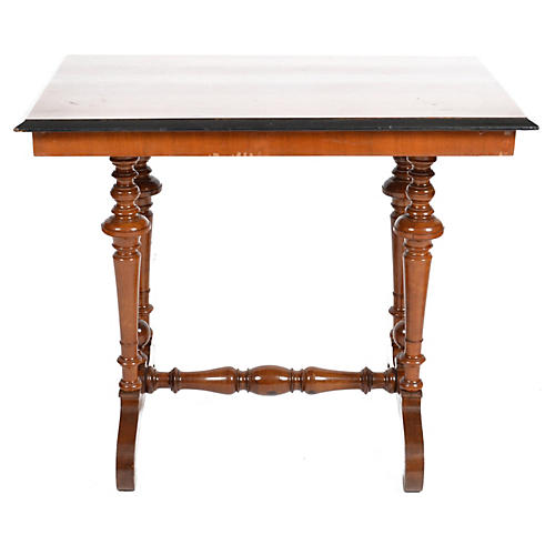 19th-C. Swedish Rectangular Walnut Table