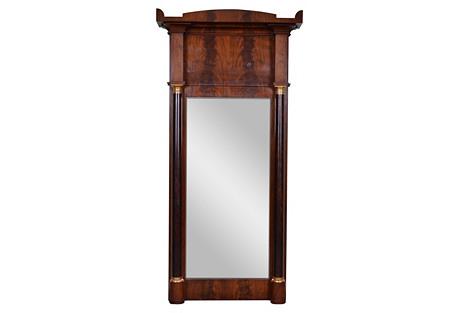 19th-C. French Empire Trumeau Mirror