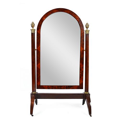 French Empire Psyche Mirror
