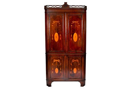 Hepplewhite  Mahogany Corner Cabinet