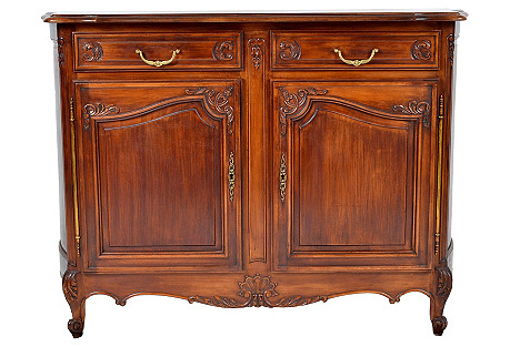 French Country Walnut Sideboard