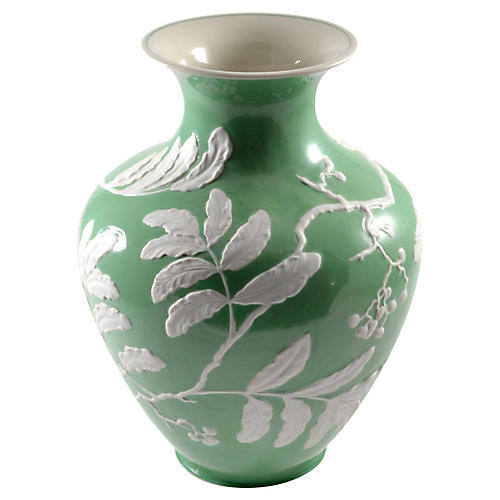 Green Porcelain Baluster Vase