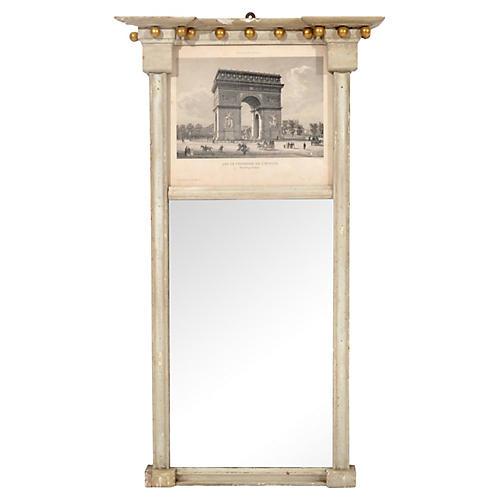 19th-C. Veus de Paris Trumeau Mirror