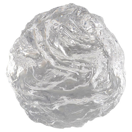 1970s Snowball Paperweight