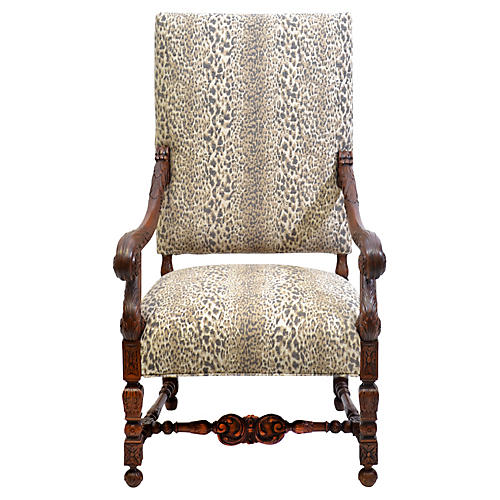 19th-C. French Louis XIV-Style Armchair