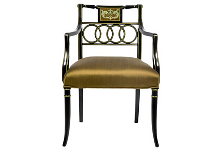 1920s English Neoclassical Armchair