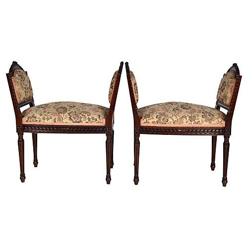 French Louis XVI-Style Benches, Pair