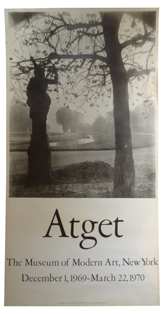 Eugene Atget MoMA Poster, 1969