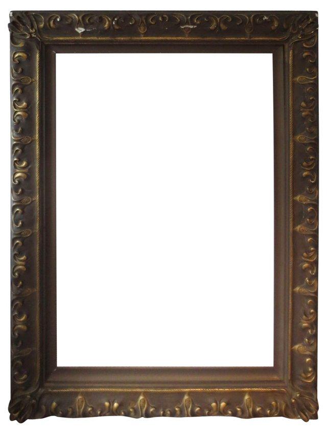 Wood & Gesso Art Nouveau Frame