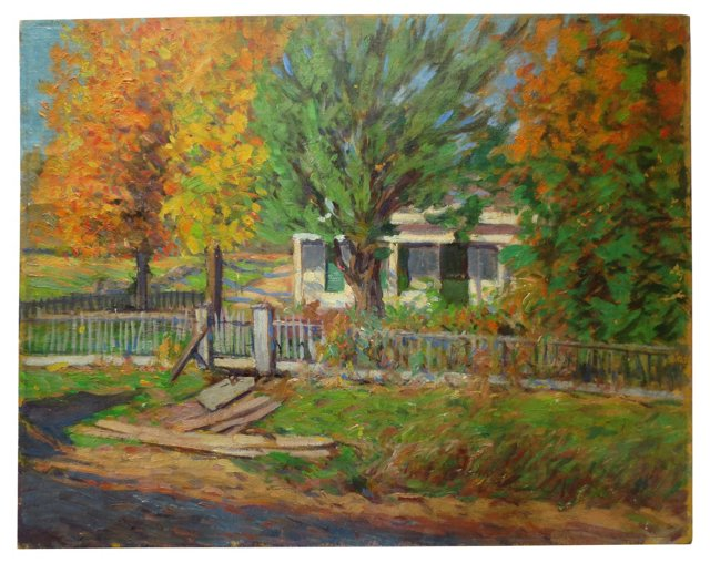 Picket Fence in Autumn